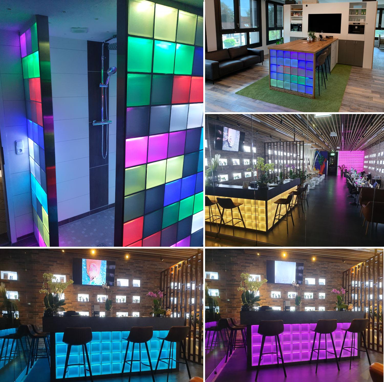 Liblox Glasbaustein mit LED Beleuchtung
