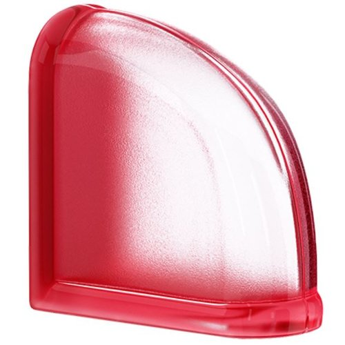 Glasbaustein SEVES MYMINIGLASS Classic Cherry Curved End Endstein